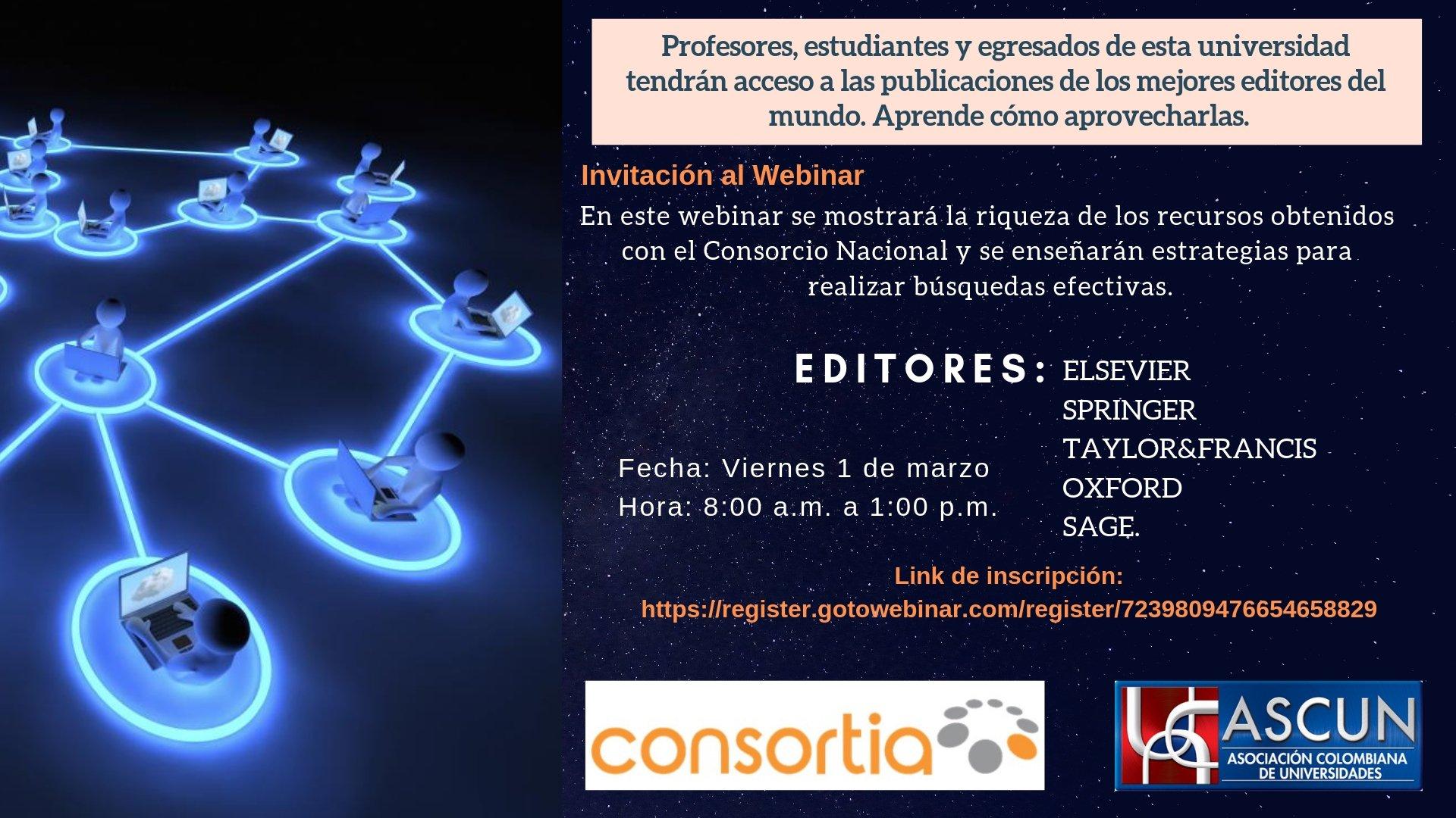 'Webinar' capacitación para el uso efectivo de los recursos incluidos en el Consorcio Nacional de Colombia