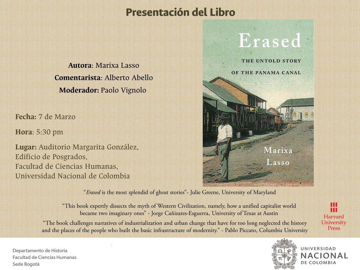 Presentación del libro 'Erased. The Untold Story of the Panama Canal' (Marixa Lasso)