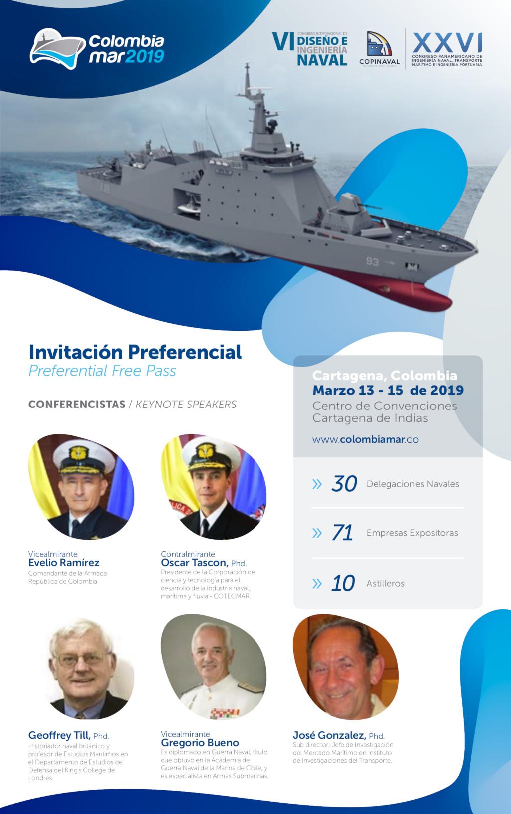 VI Congreso Internacional de Diseño e Ingeniería Naval y Feria Colombiamar 2019