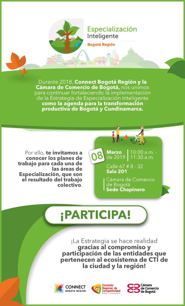 Evento de resultados Especialización Inteligente 2018 - Connect Bogotá Región