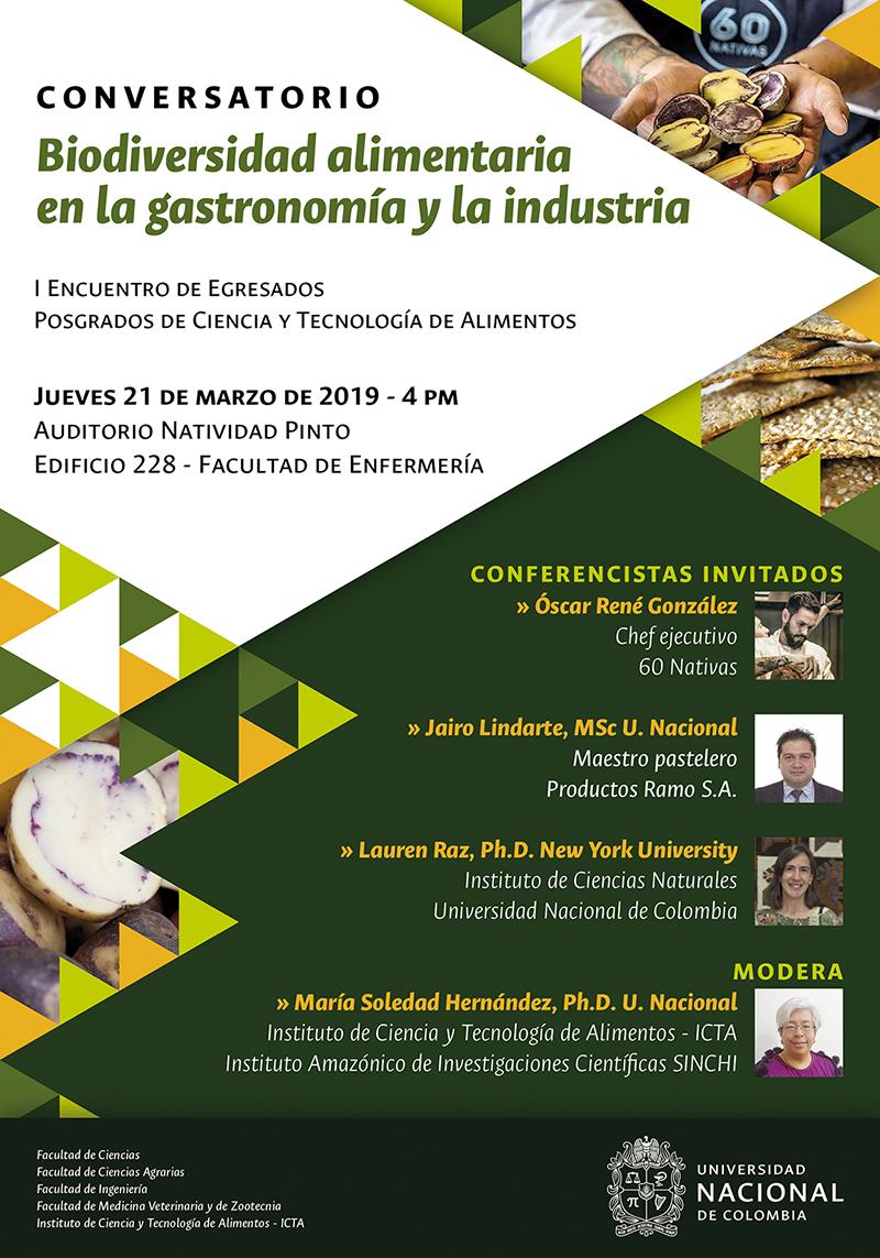 Conversatorio «Biodiversidad alimentaria en la gastronomía y la industria»