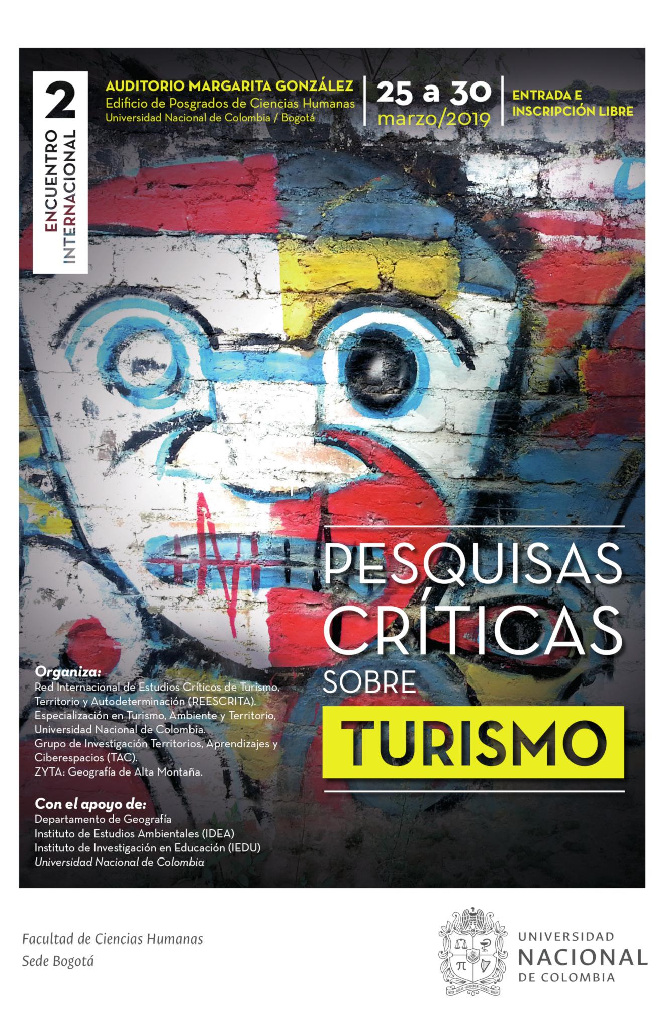 Segundo encuentro internacional «Pesquisas críticas sobre turismo»