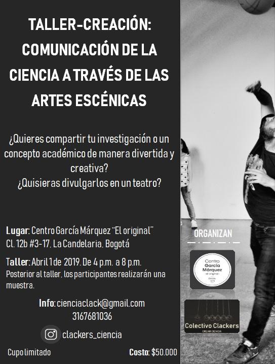Taller-creación «Comunicación de la ciencia a través de las artes escénicas»