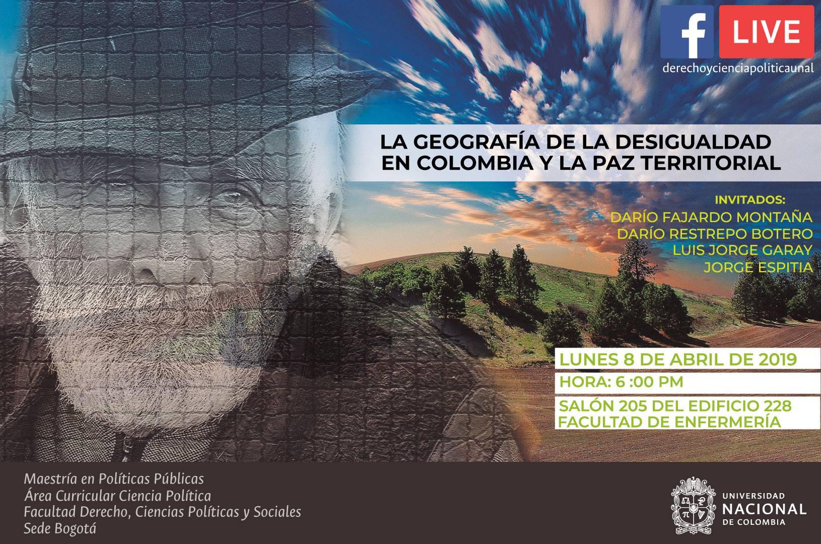 Evento «La geografía de la desigualdad en Colombia y la paz territorial»