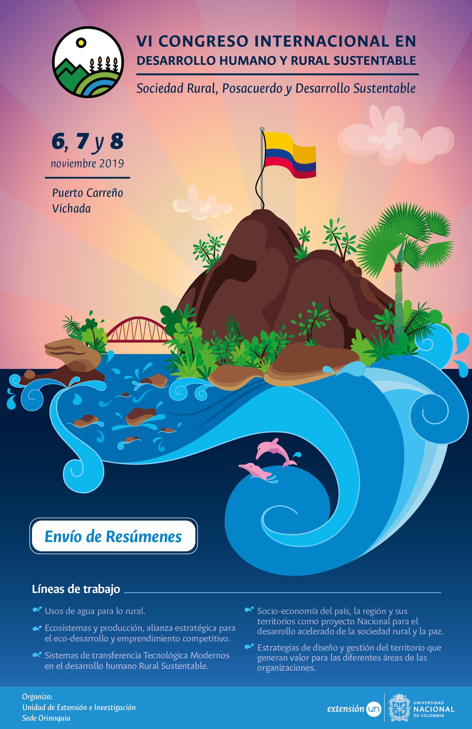 VI Congreso Internacional en Desarrollo Humano y Rural Sustentable: «Sociedad Rural, Posacuerdo y Desarrollo Sustentable»