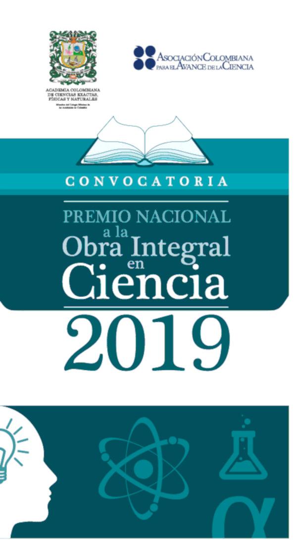 Premio Nacional a la Obra Integral en Ciencia 2019 (ACCEFYN y ACAC)