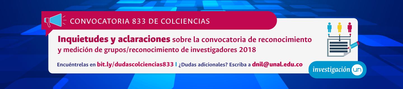 Consulte la lista de inquietudes y aclaraciones sobre la Convocatoria 833 de Colciencias