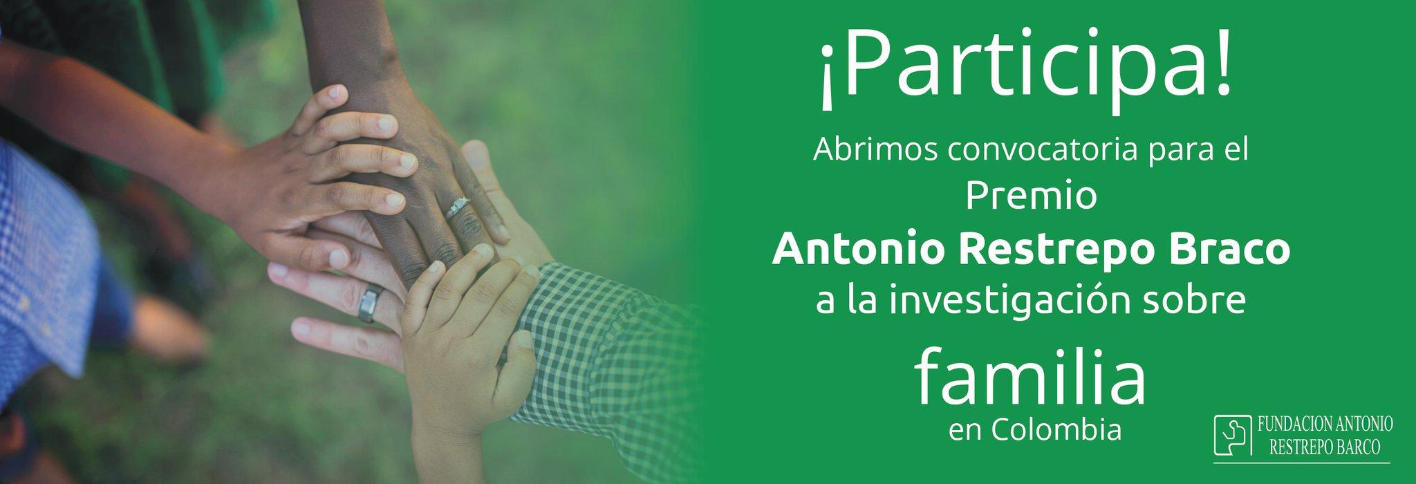 Premio a la Investigación sobre Familia en Colombia 2019 (Fundación Antonio Restrepo Barco)