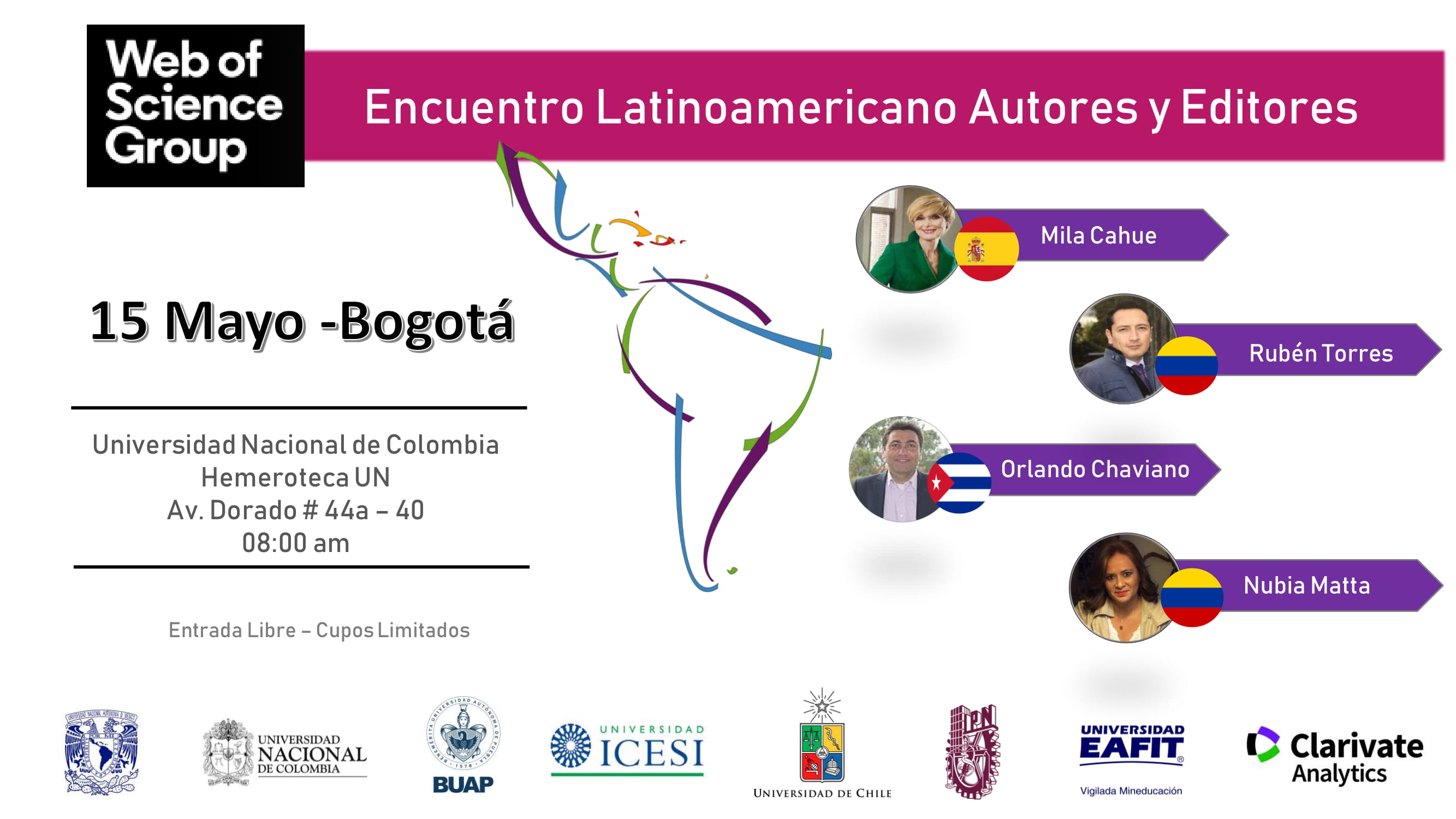 Encuentro Latinoamericano de Autores y Editores (Web of Science Group)