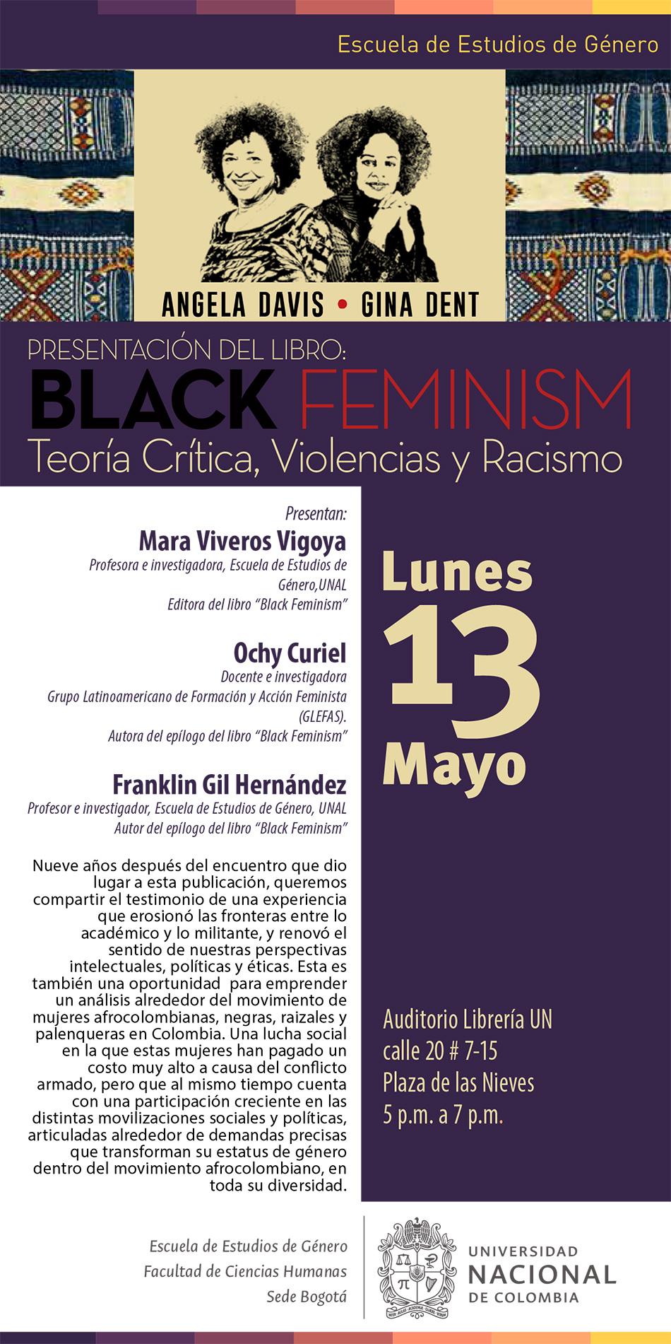 Presentación 'Black Feminism. Teoría Crítica, Violencias y Racismo' (Angela Davis y Gina Dent)