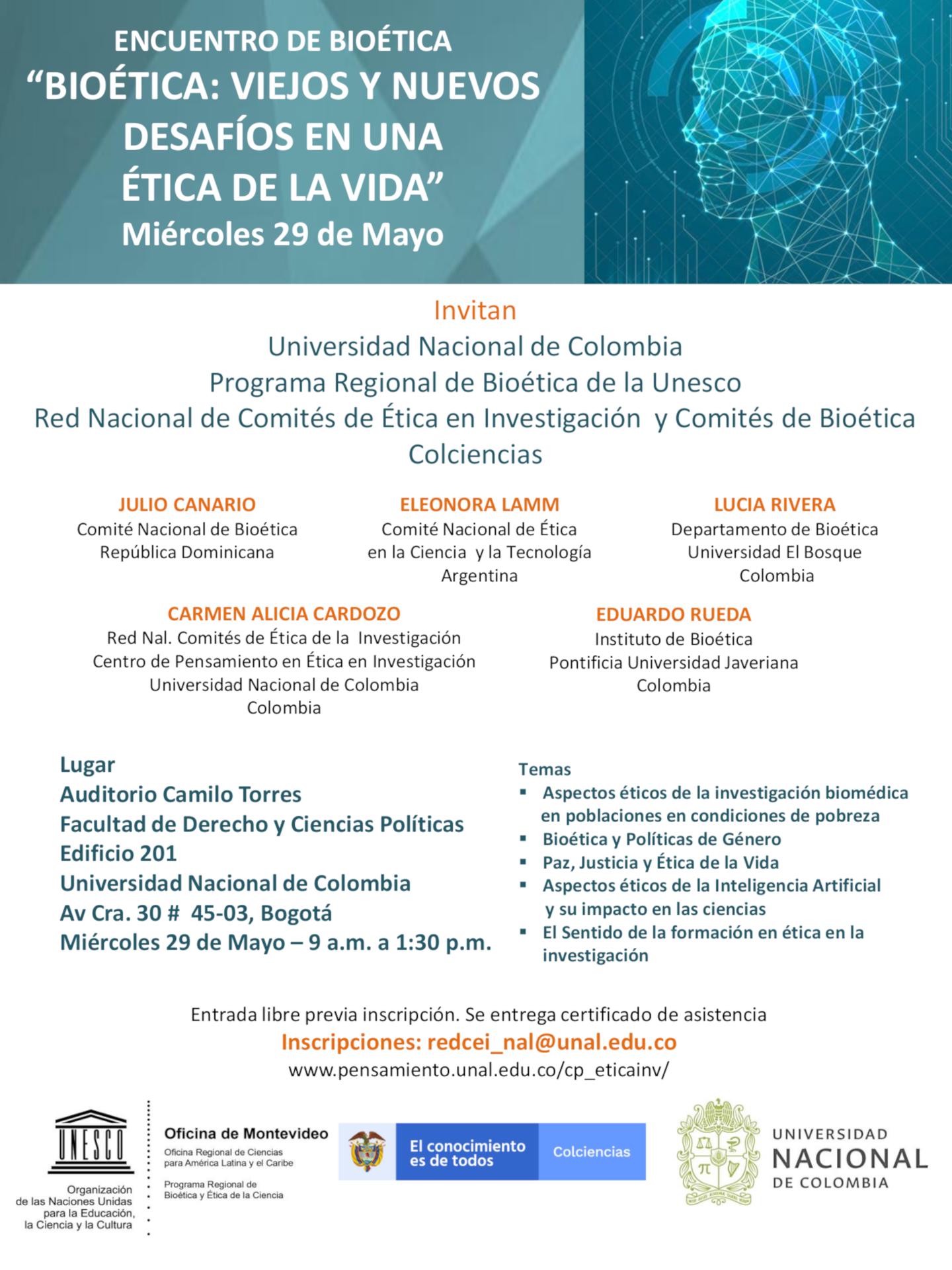 Encuentro de Bioética «Bioética: viejos y nuevos desafíos en una ética de vida»