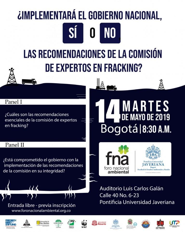 Evento «¿Implementará el Gobierno nacional, sí o no, las recomendaciones de la Comisión de Expertos en 'Fracking'?»