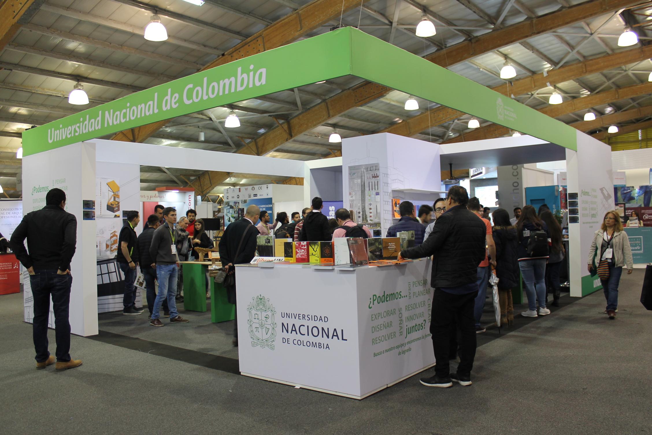 Estand de la Universidad Nacional de Colombia en Expoconstrucción y Expodiseño 2019 (Fotos: Diana Becerra B./DIEB)