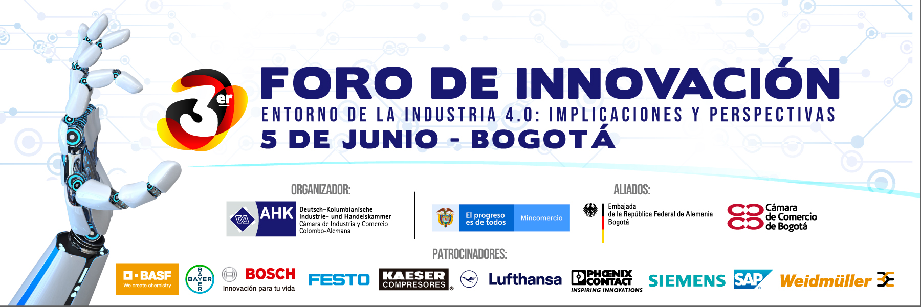 III Foro de Innovación: «Entorno de la Industria 4.0: implicaciones y perspectivas / Casos empresariales de éxito en la Industria 4.0 colombo-alemana»