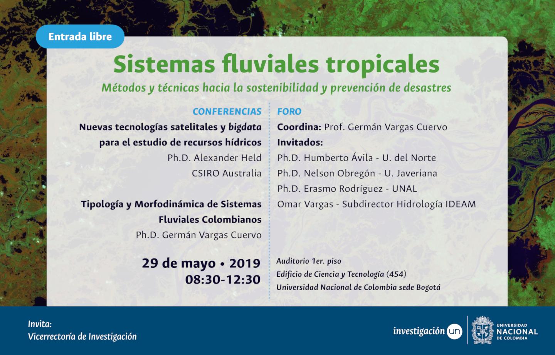 Foro temático institucional «Sistemas fluviales tropicales, tecnologías satelitales y 'big data' para la prevención de desastres y la sostenibilidad»