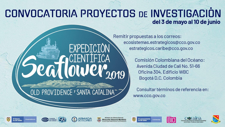 Convocatoria Expedición Científica Seaflower 2019, Old Providence y Santa Catalina (Comisión Colombiana del Océano)