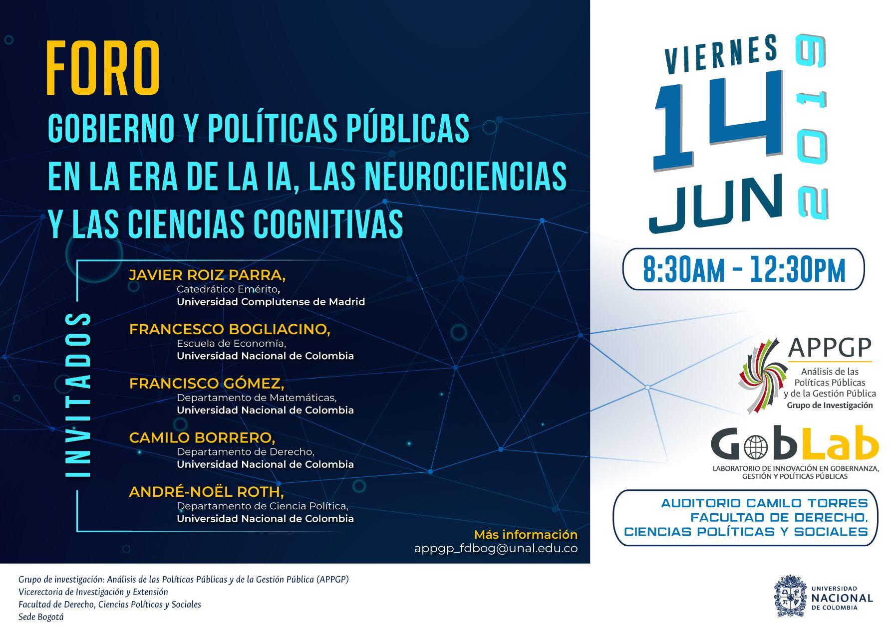 Foro «Gobierno y políticas públicas en la era de la inteligencia artificial, las neurociencias y las ciencias cognitivas»
