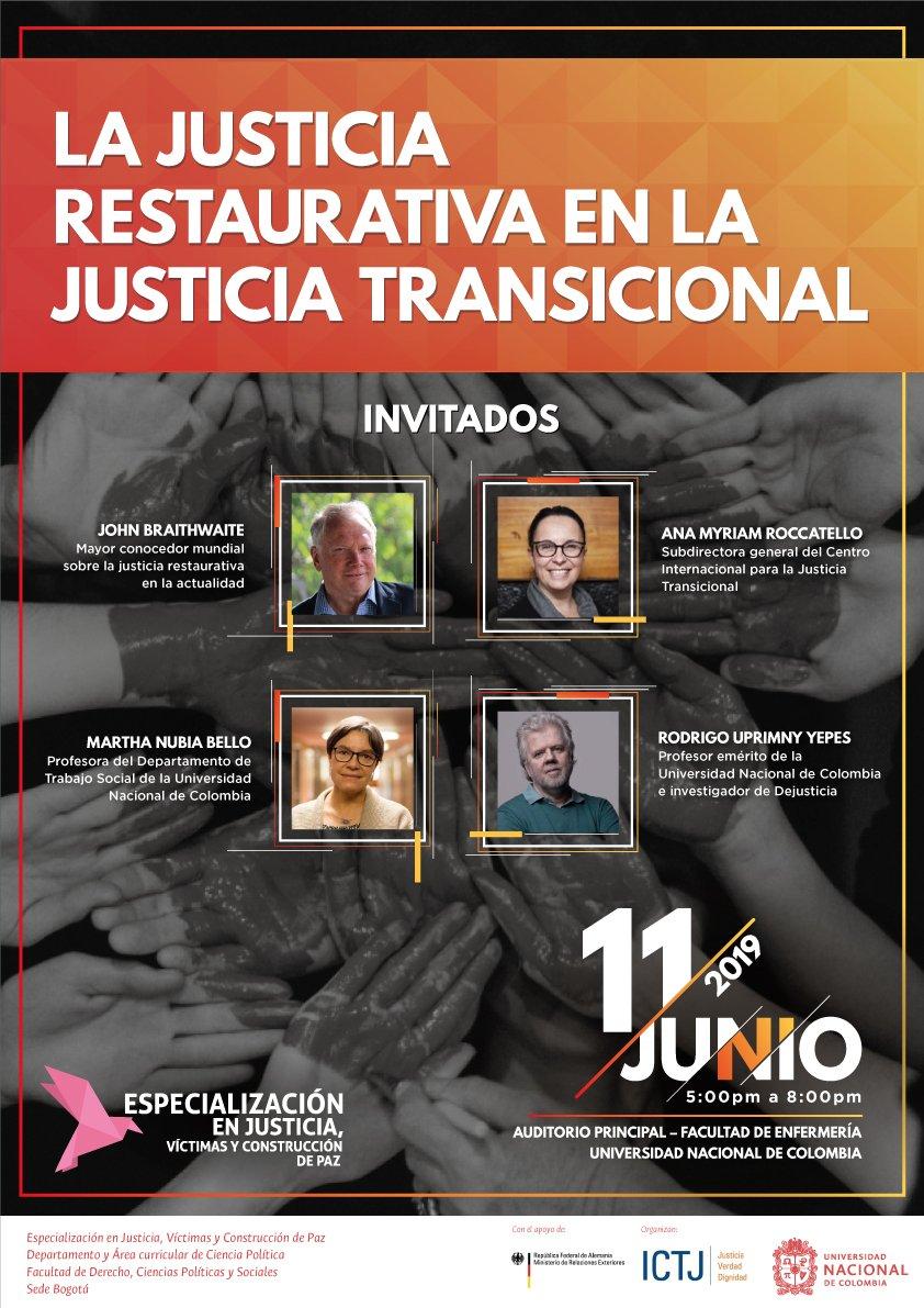 Evento «La justicia restaurativa en la justicia transicional»