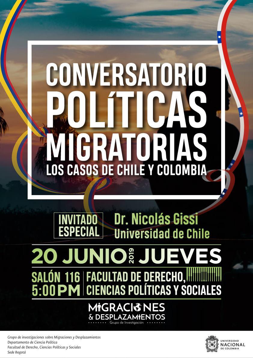 Conversatorio «Políticas migratorias: casos de Chile y Colombia»