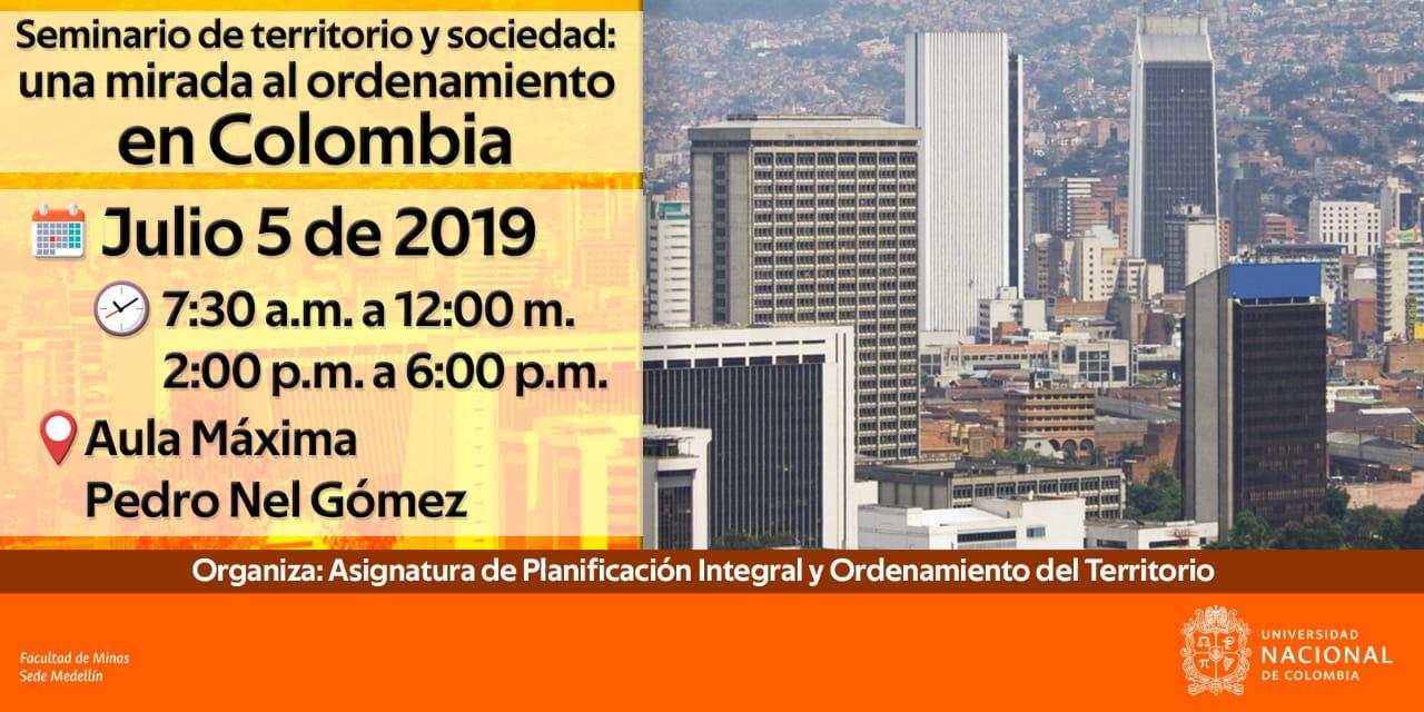 Seminario de territorio y sociedad «Una mirada al Ordenamiento Territorial en Colombia»