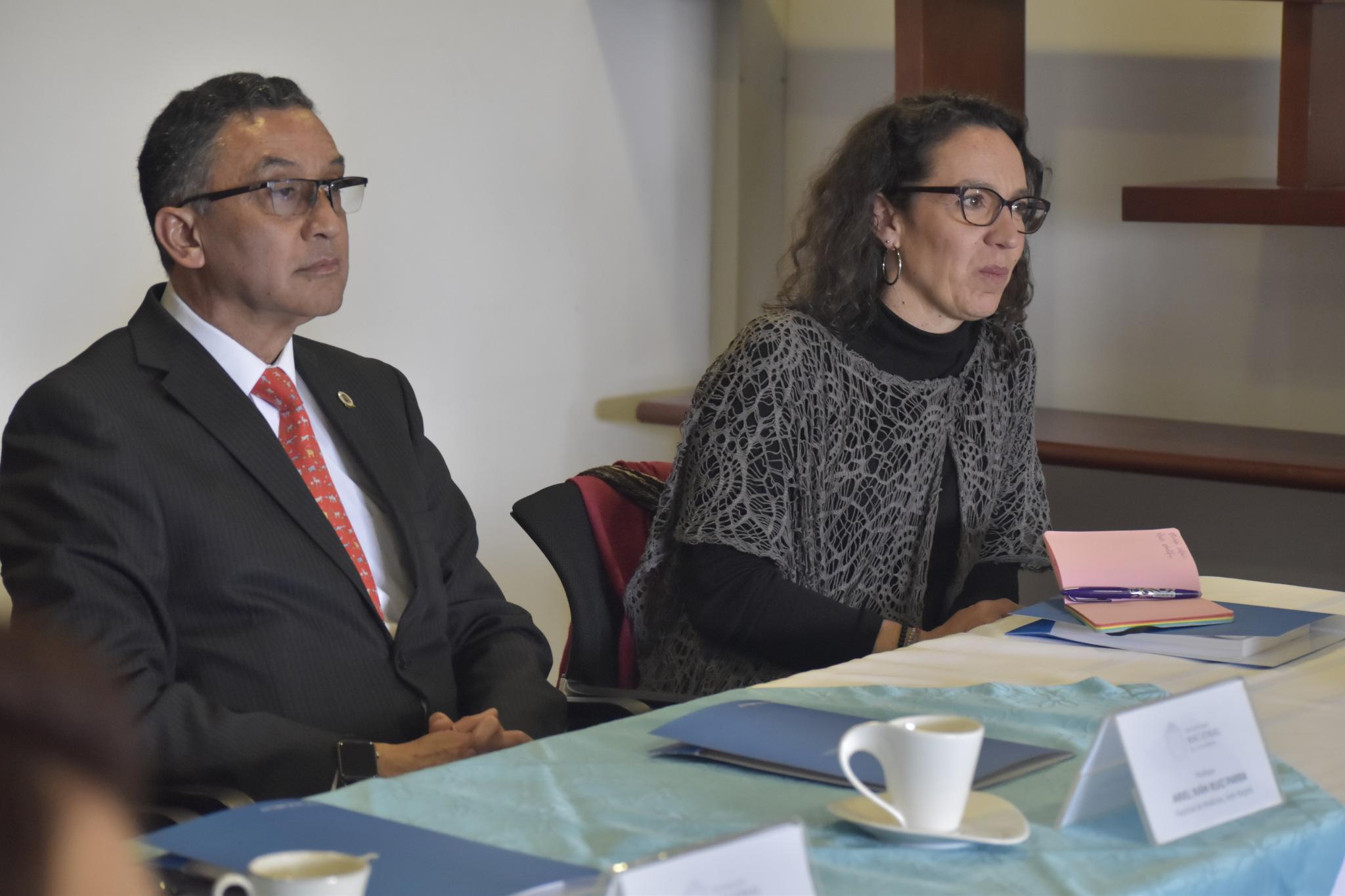 Ariel Ruiz Parra (izquierda) y Alejandra Jaramillo Morales (Foto: VRI)