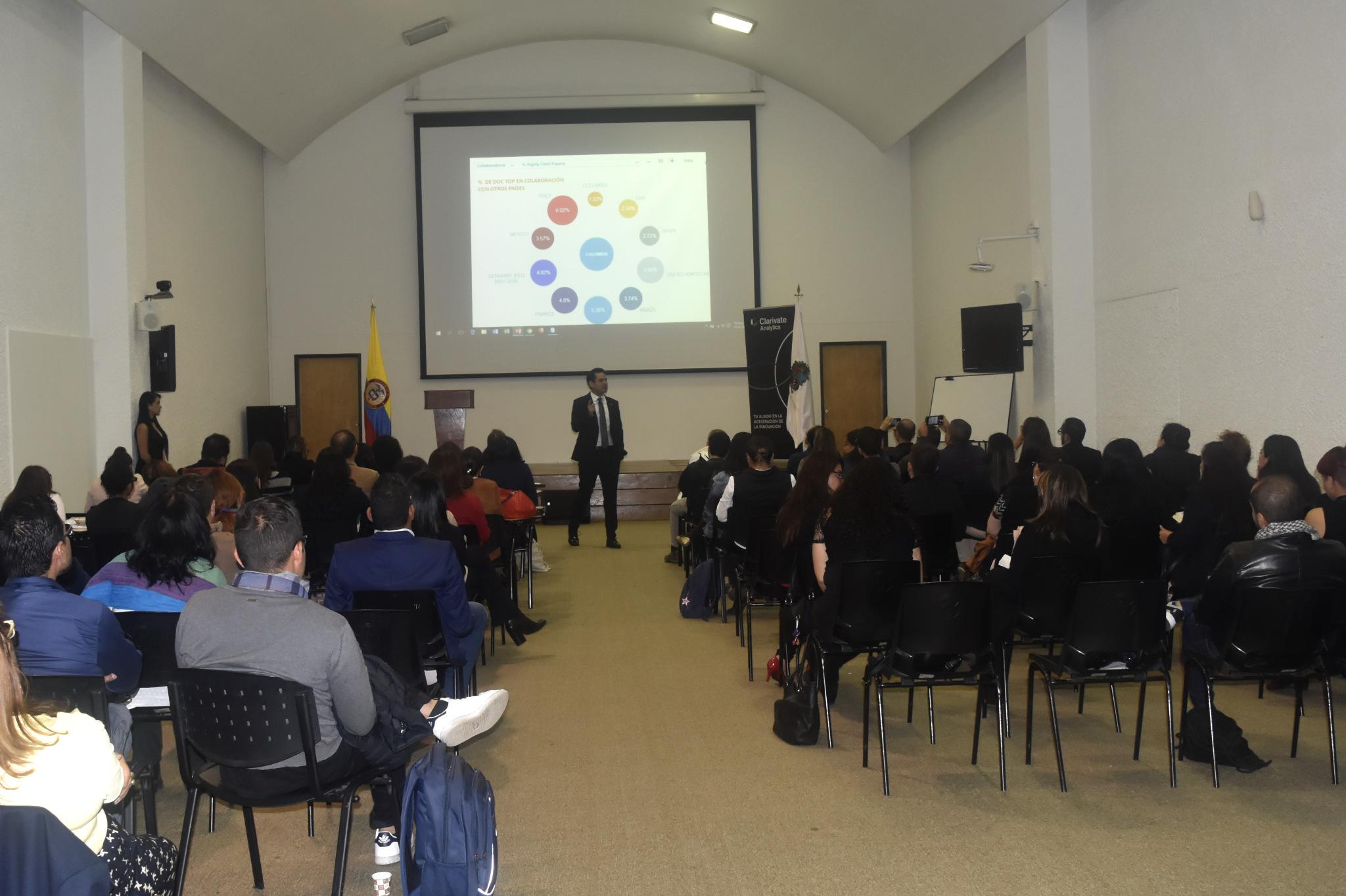 El evento se realizó en el auditorio de la Hemeroteca Nacional Universitaria de la U. N. sede Bogotá (Foto: Camilo Baquero/VRI)