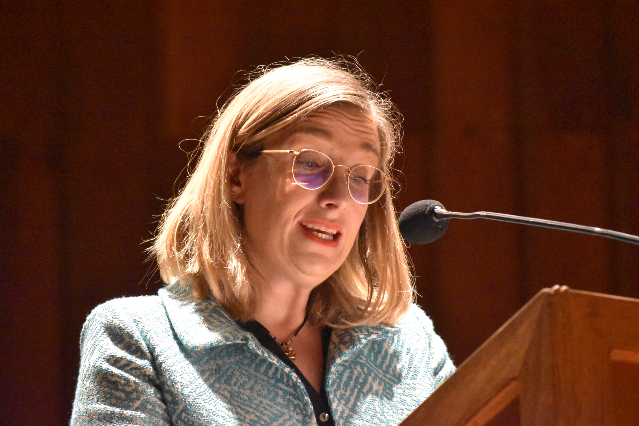 Kristina Birke Daniels, directora de la Friedrich-Ebert-Stiftung en Colombia (Foto: Aura Flechas)