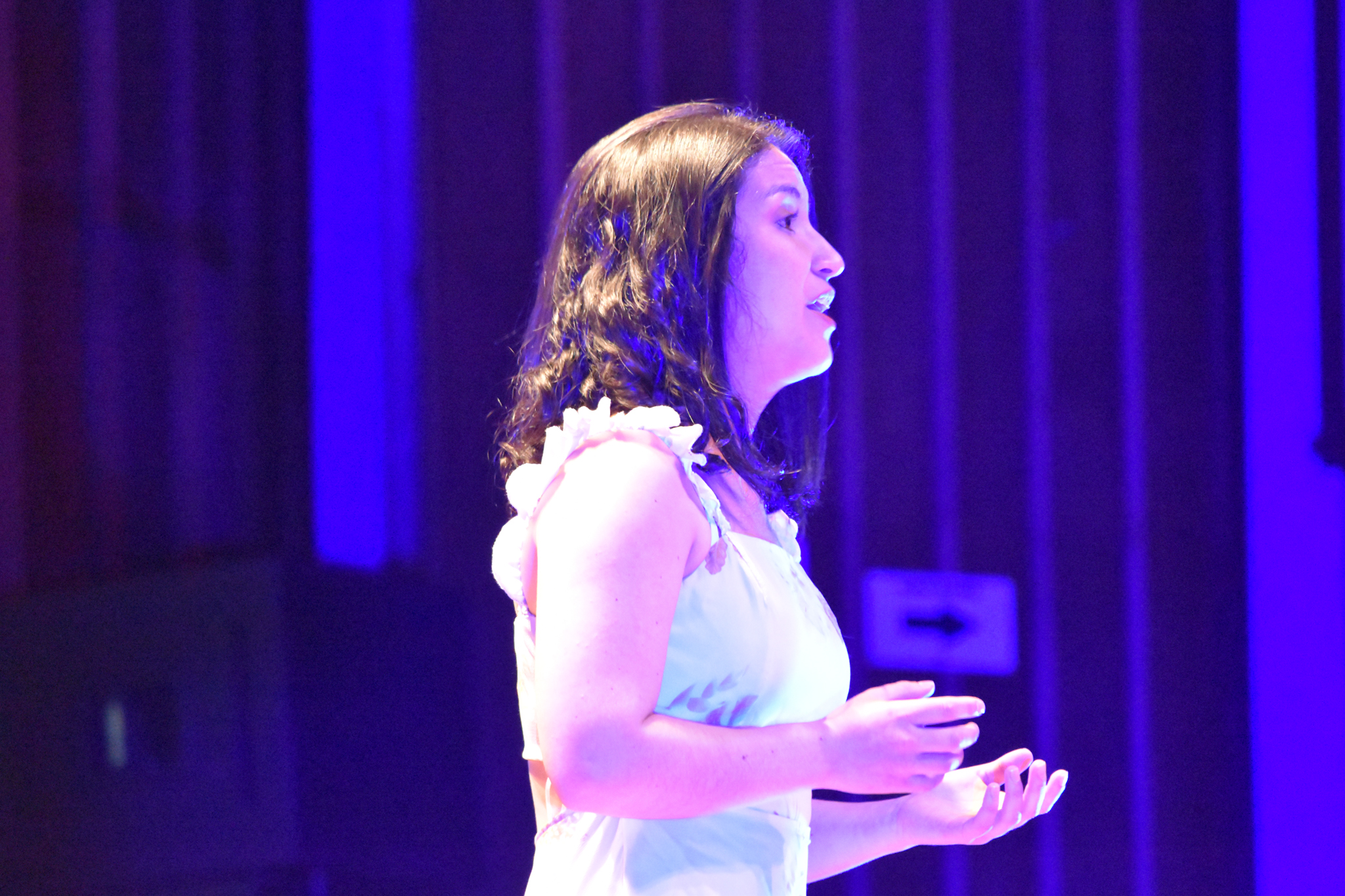 Carolina López, soprano, estuvo acompañada del pianista Cristian Daniel Ariza (Foto: Aura Flechas)