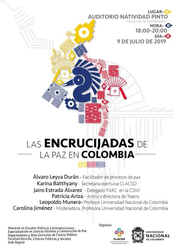 Evento «Las encrucijadas de la Paz en Colombia»
