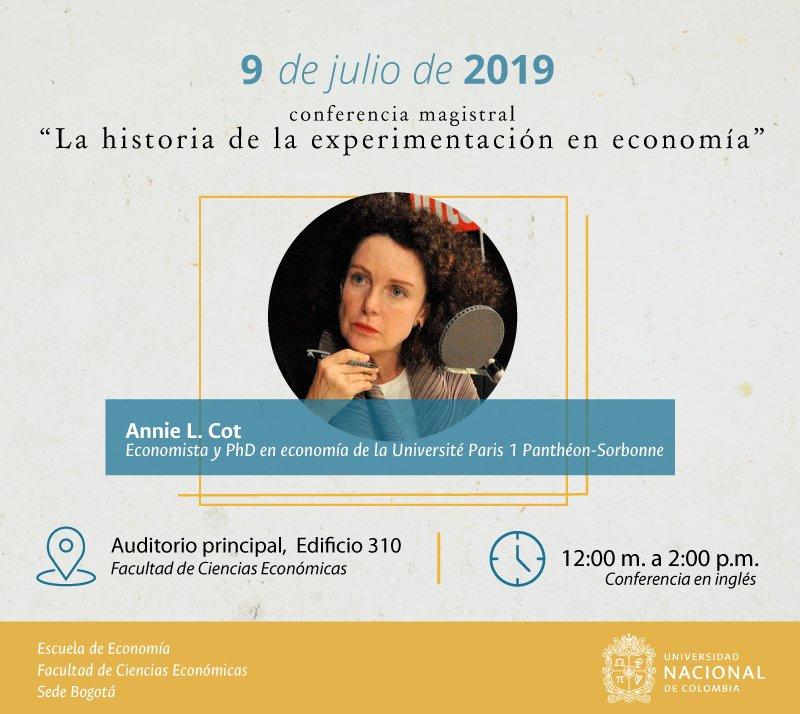 Conferencia magistral «La historia de la experimentación en economía» (Annie L. Cot)