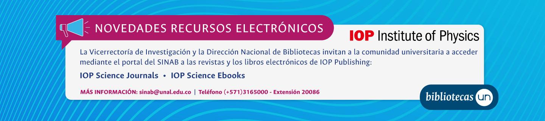 Novedades recursos electrónicos: IOP Science