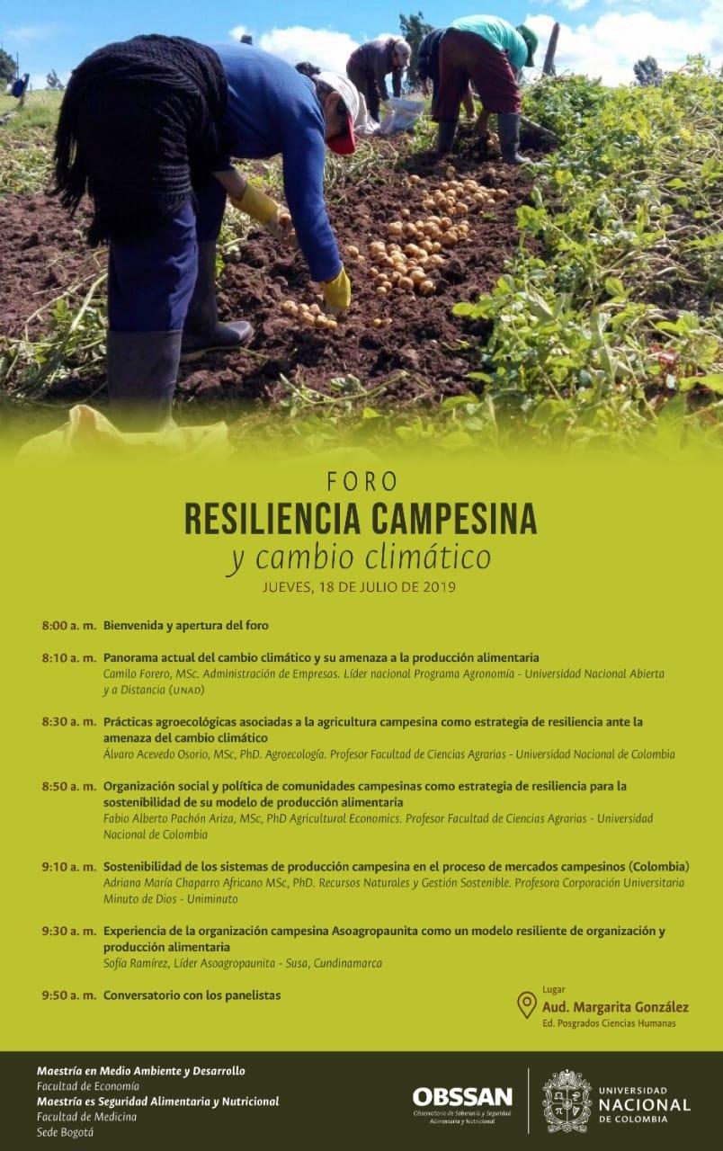 Foro «Resiliencia campesina y cambio climático»