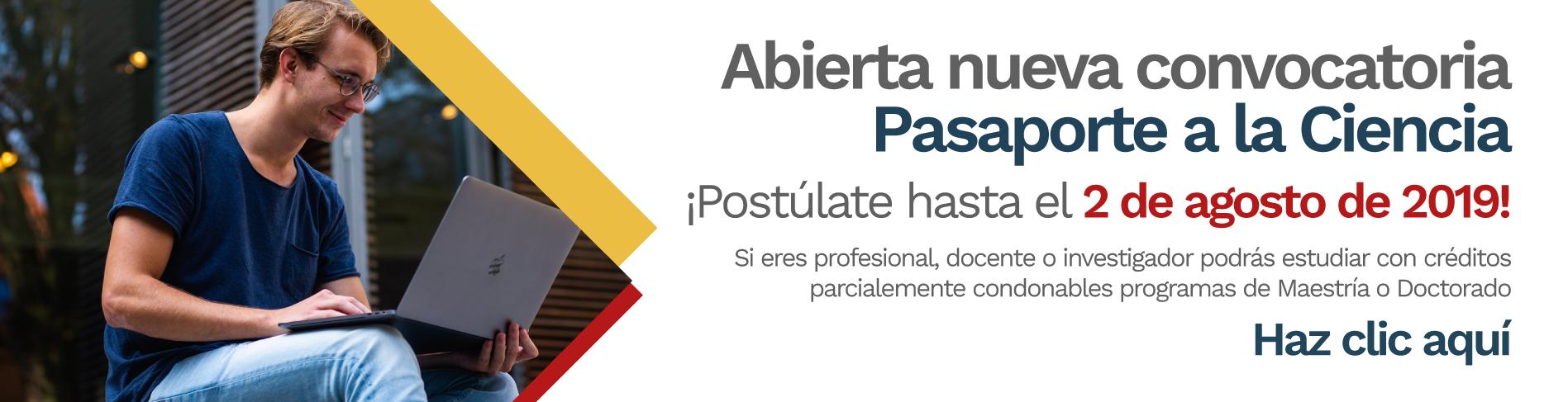 Segunda convocatoria «Pasaporte a la Ciencia» 2019 (Colombia Científica)