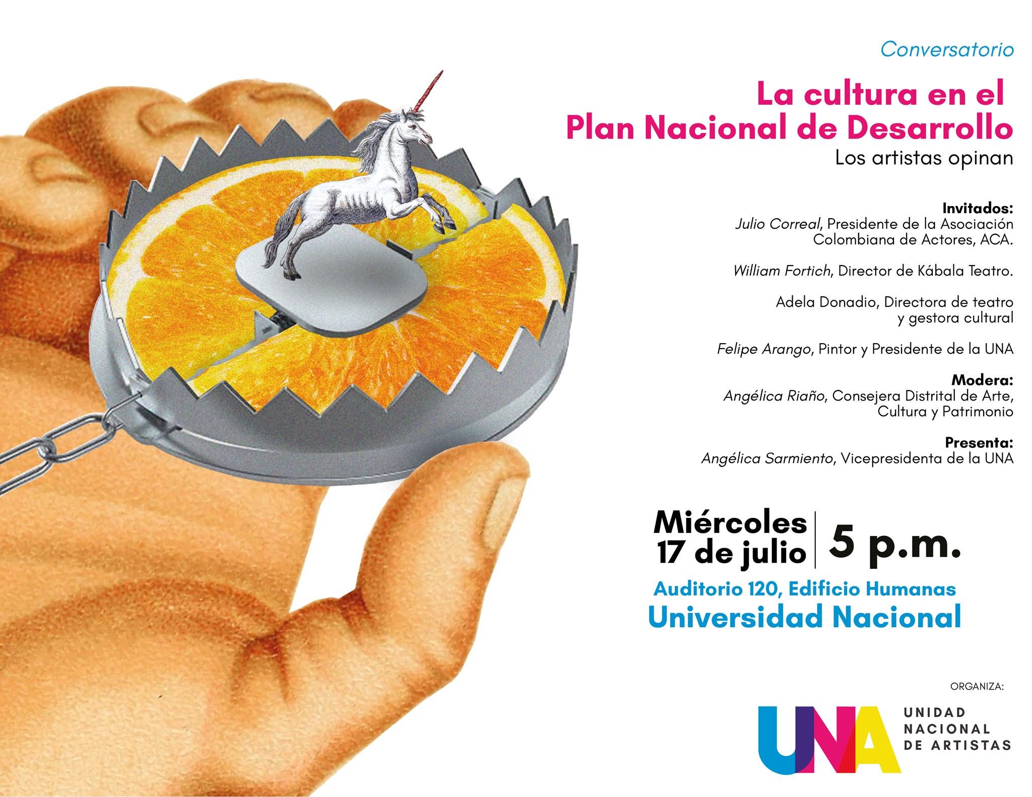 Conversatorio «La cultura en el Plan Nacional de Desarrollo: los artistas opinan»