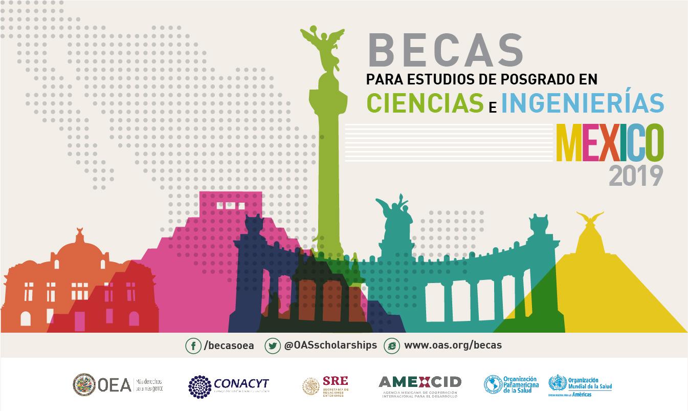 Becas para estudios de posgrado en Ciencias e Ingenierías México 2019 (CONACYT-OEA-AMEXCID)
