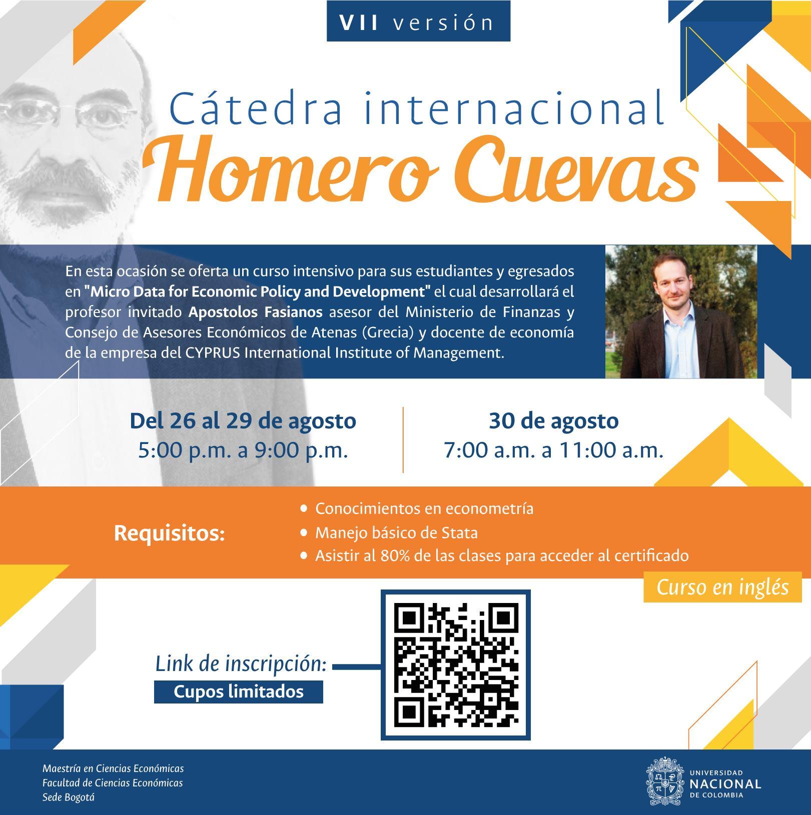Cátedra Internacional Homero Cuevas 2019: «Micro Data for Economic Policy and Development»