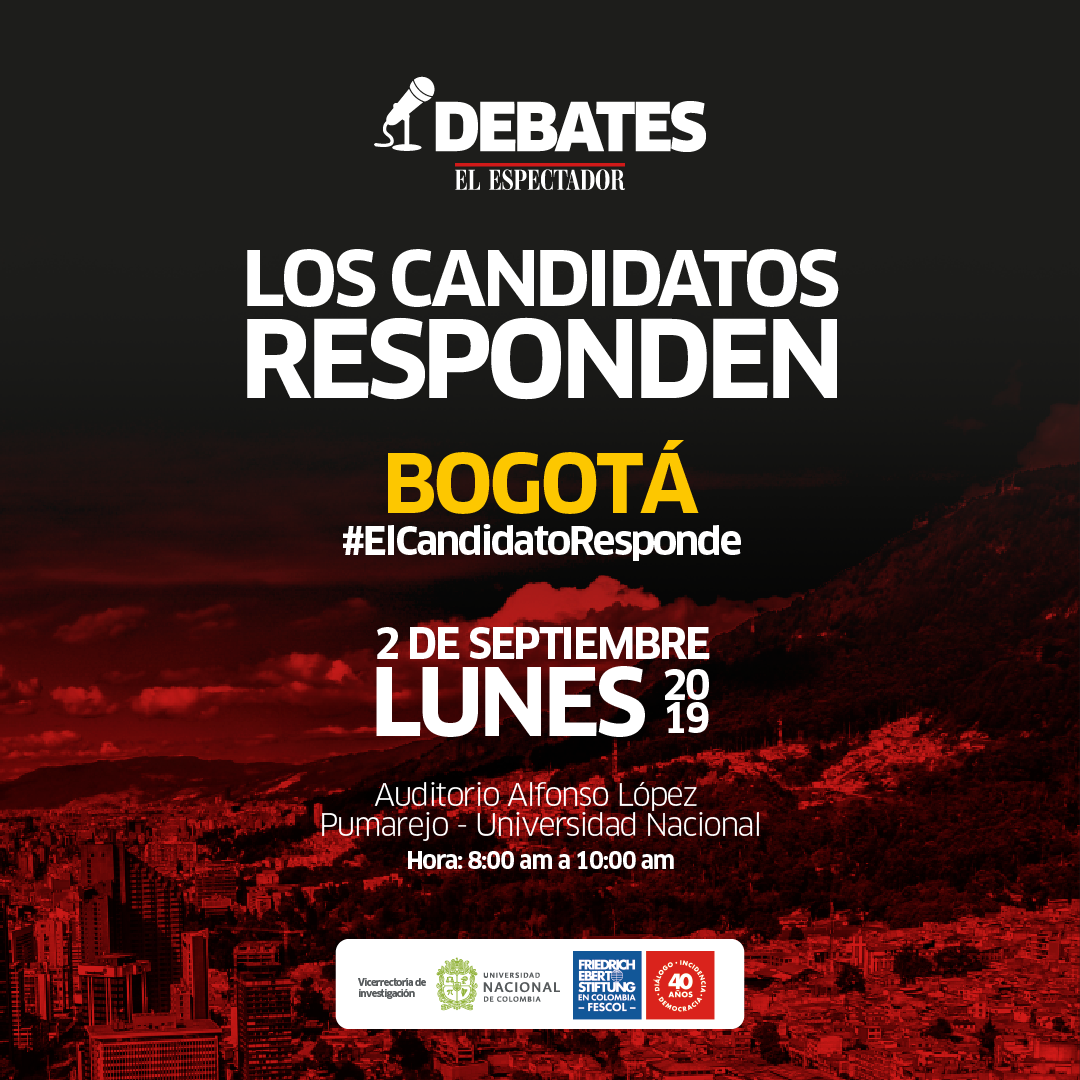 #ElCandidatoResponde: Debates El Espectador con los candidatos a la Alcaldía Mayor de Bogotá