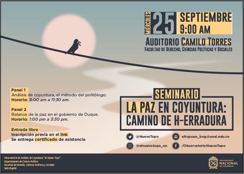 Seminario «Paz en coyuntura: camino de h-erraduras»