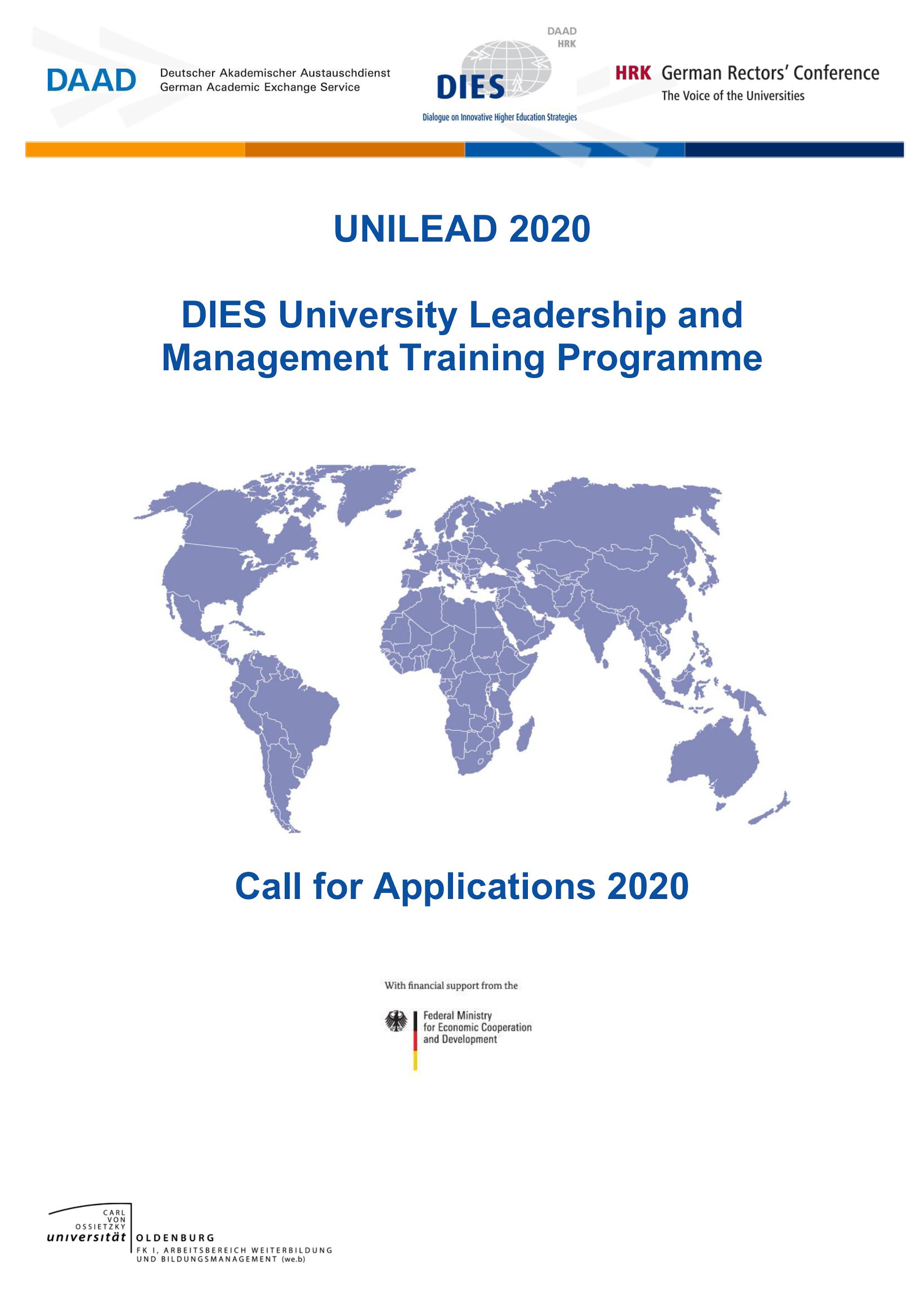 Convocatoria del programa UNILEAD 2020