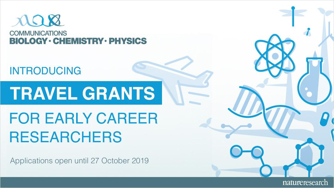 Travel grants for early career researchers 2020 (Nature Communications journals)