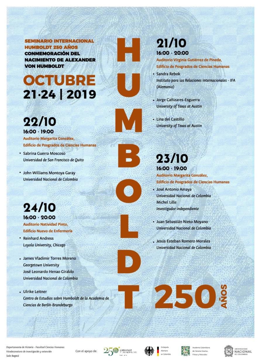 Seminario internacional «Humboldt 250 años» (conmemoración del nacimiento de Alexander von Humboldt)