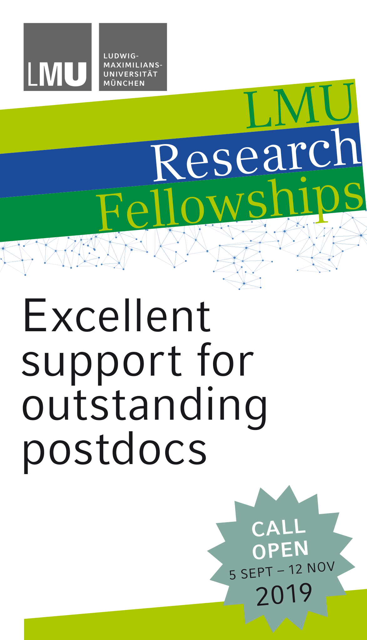Postdoc research fellowships in Germany (LMU) in all fields of knowledge (incoming / outgoing) 2020