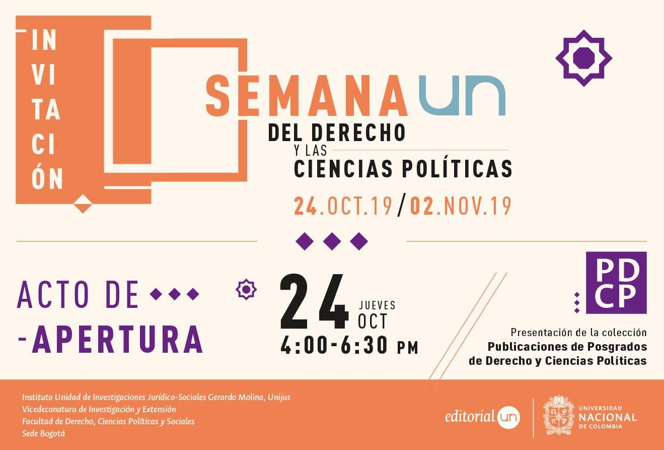 Semana UN del Derecho y las Ciencias Políticas 2019