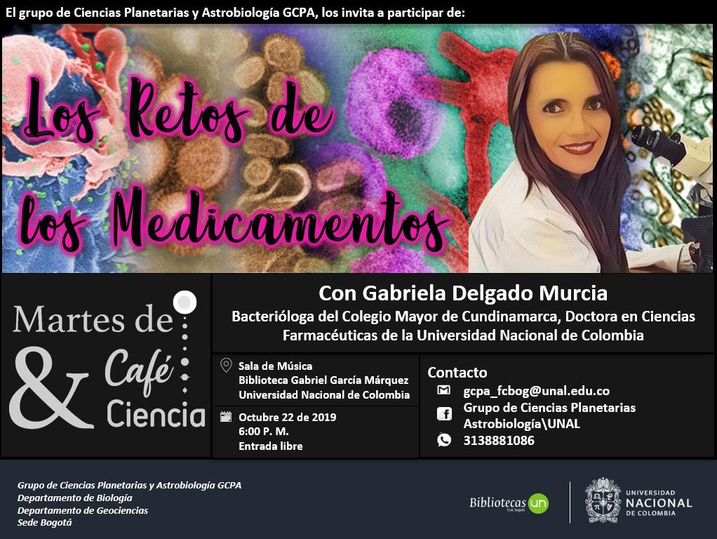 [Martes de café y ciencia] «Los retos de los medicamentos» (Gabriela Delgado Murcia)