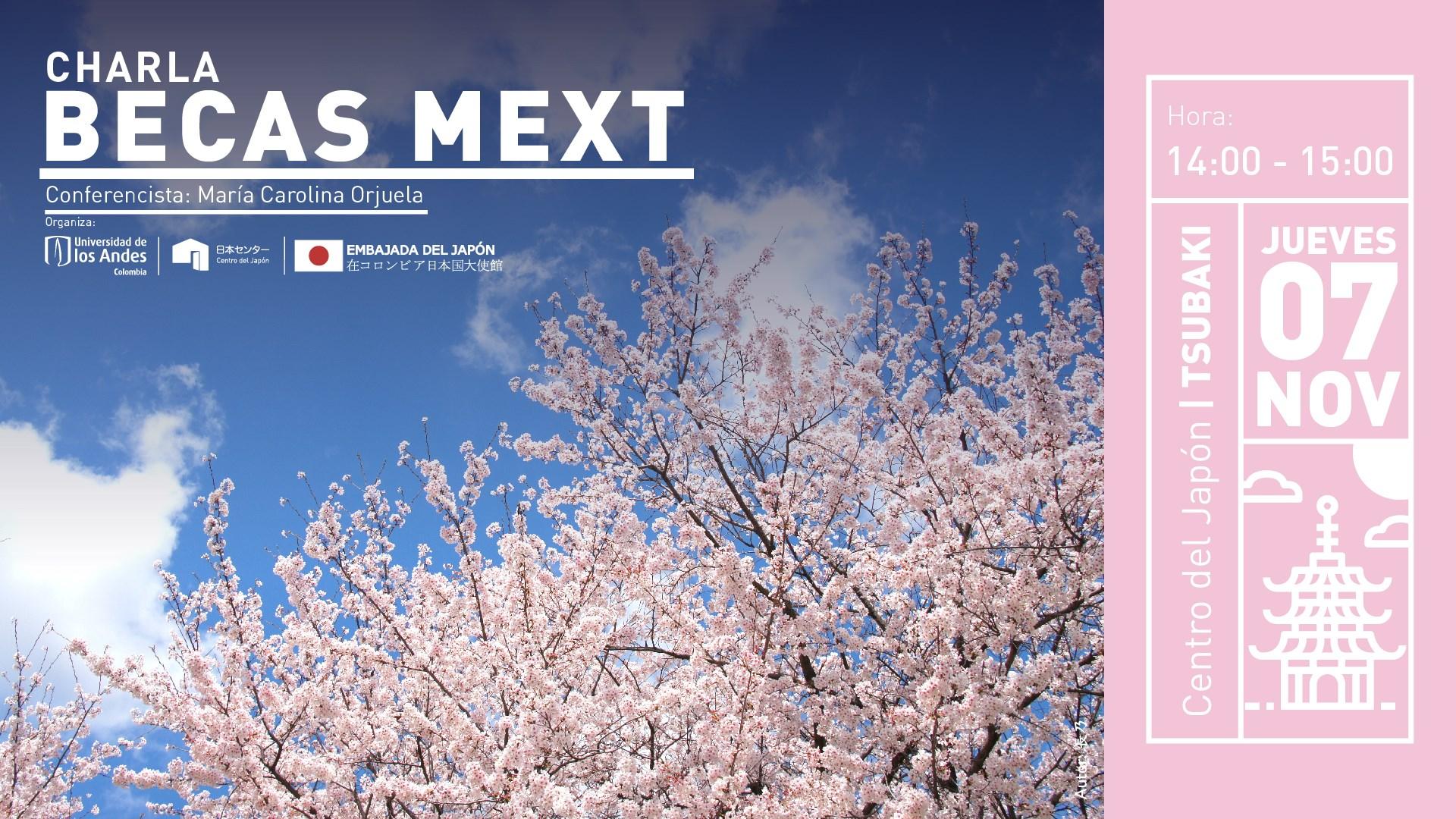 Charla sobre becas del MEXT en Japón (noviembre 2019)