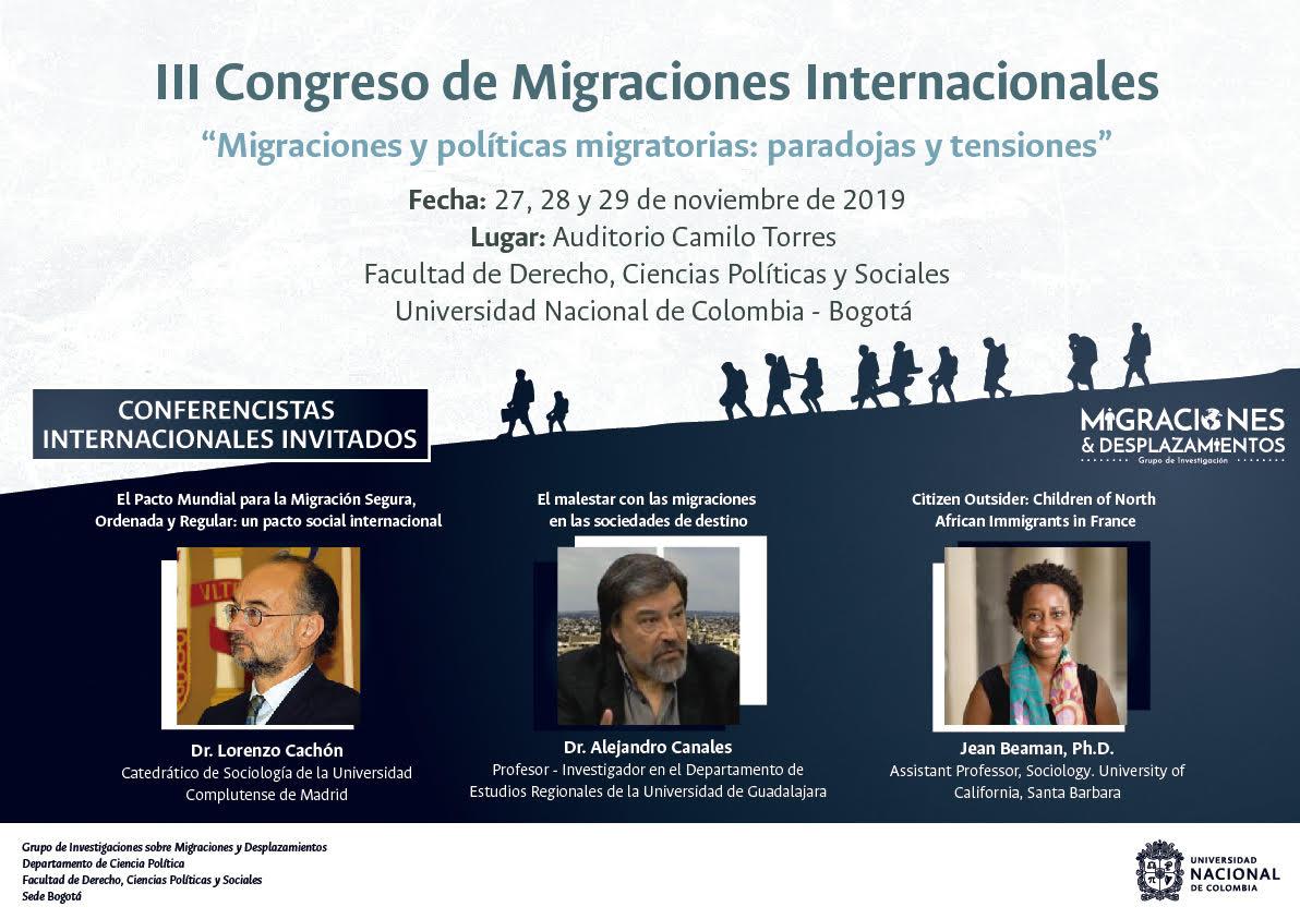 III Congreso de Migraciones Internacionales «Migraciones y políticas migratorias: paradojas y tensiones»