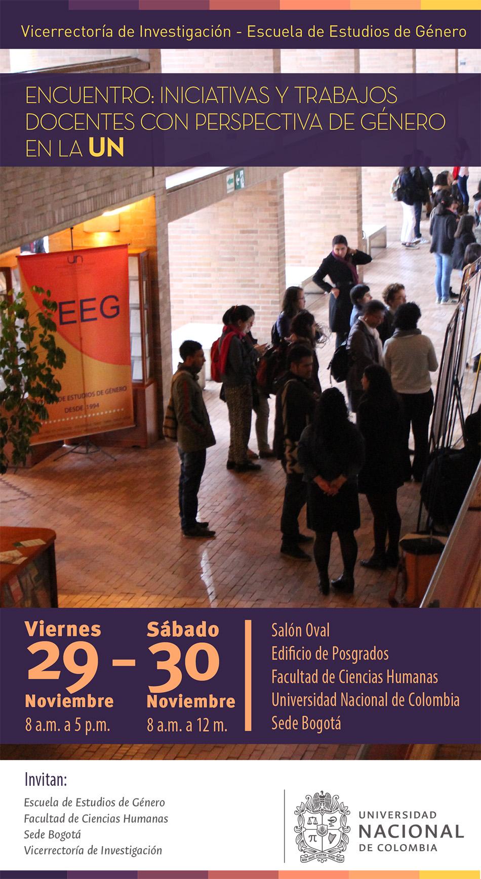 Encuentro «Iniciativas y trabajos docentes con perspectiva de género en la Universidad Nacional de Colombia»