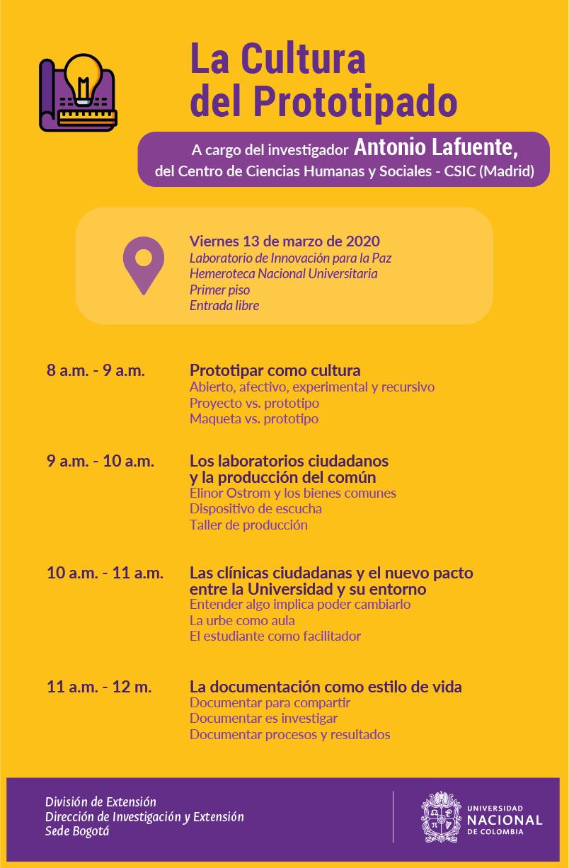 Evento «La cultura del prototipado» (Antonio Lafuente)