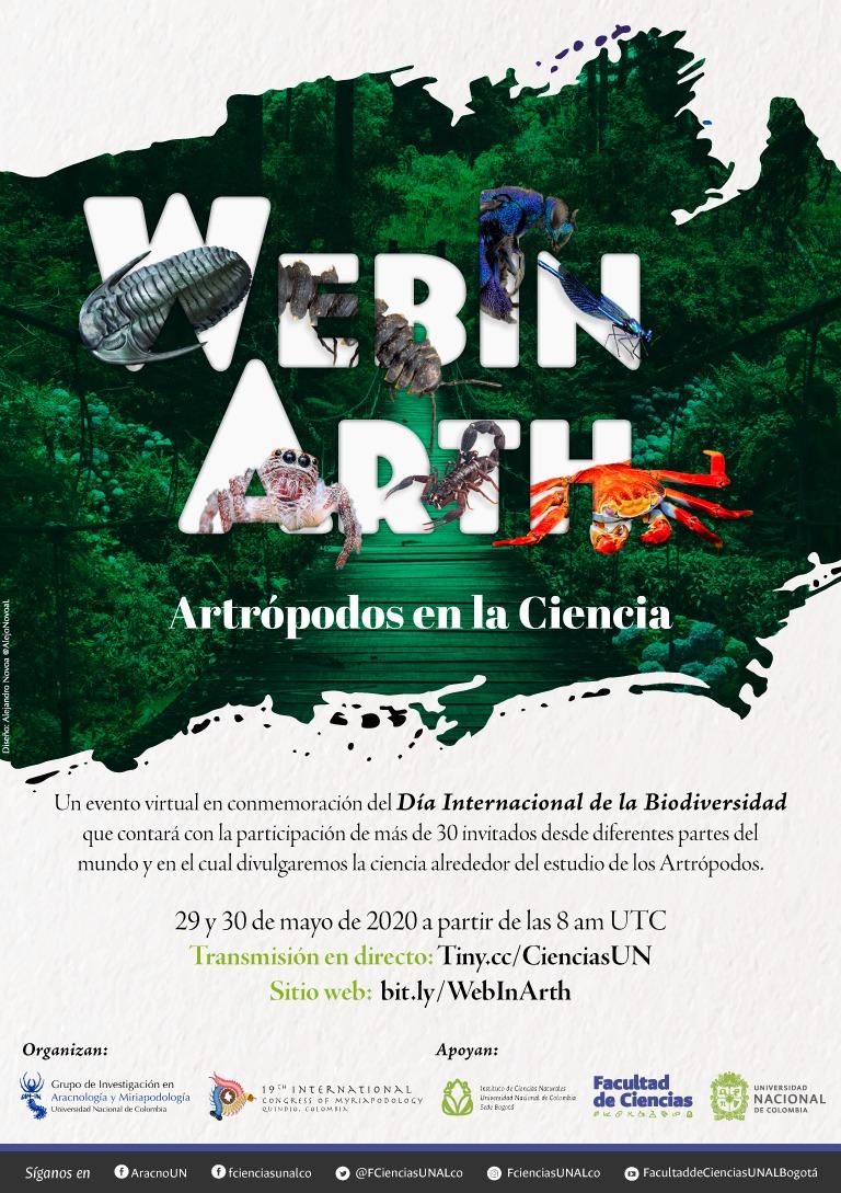 WebinArth: Artrópodos en la Ciencia