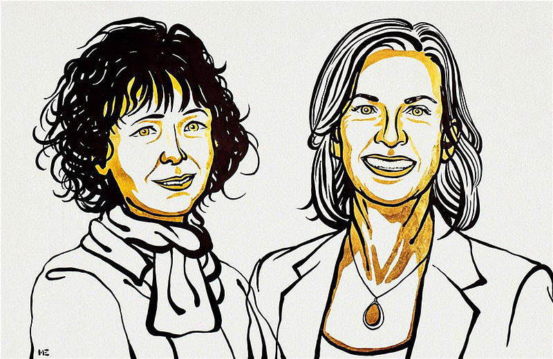 Emmanuelle Charpentier y Jennifer A.                         Doudna